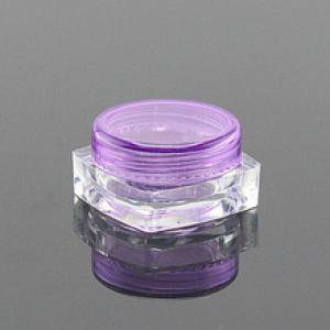 3g Clear square Empty Ps,Case pot, jar Container for loose powder Eyeshadows