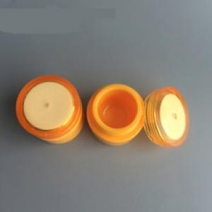 Empty plastic sample makeup jars 5ml mini cosmetic container round