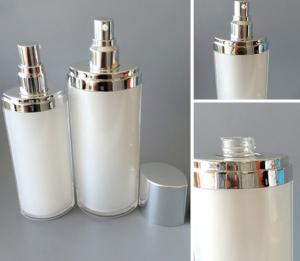 High end plastic beautiful cosmetic bottle container makeup set