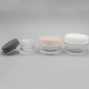 Round Clear Loose Powder Jar Container for Powder