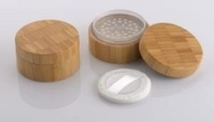 empty cosmetic case bamboo packaging wood makeup container 30g loose powder sifter jars